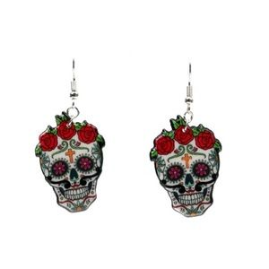 Sugar Skull Earrings New With Tags NWT